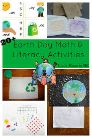 earth day math and literacy activities for kids free printables