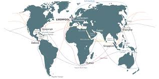 Cape Of Good Hope On World Map by Shipping Lines Superport