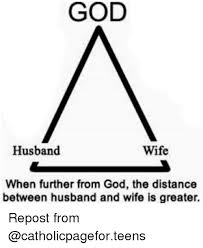 Wife Husband Meme - god wife husband when further from god the distance between