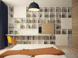 Bookshelves And Desk Built In by Cool Home Designs With Warm Accents Behance Apartments And Desks
