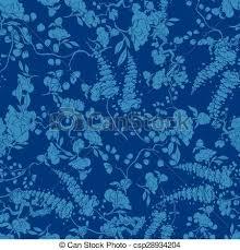 kimono repeat pattern vector royal blue kimono floral texture seamless pattern vector