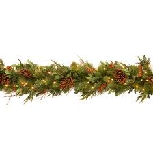 6 x 12 decorative collection juniper mix pine garland with 100