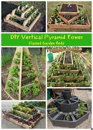Diy Vertical Herb Garden Diy Vertical Pyramid Tower Planters And Raised Garden Beds Plans