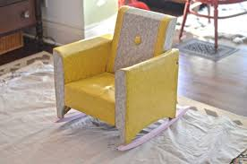 Upholstered Rocking Chair Reupholstered Kids Rocker