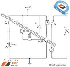 how to make a circuit of automatic street light control system