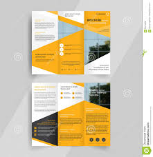 Tri Fold Program Business Tri Fold Brochure Layout Design Emplate Stock Vector