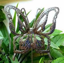 metal butterfly garden stakes decorative garden stakes