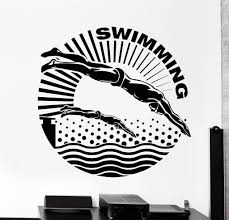vinyl wall decal swimmer water sport swimming pool stickers 829ig vinyl wall decal swimmer water sport swimming pool stickers 829ig