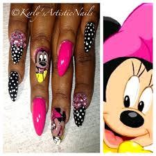 minnie mouse nail art design nail art gallery
