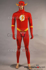 Flash Halloween Costumes Dc Comics Flash Jumpsuit Cosplay Costume Cosplaysky
