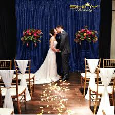 wedding backdrop size big size 20x10ft navy blue sequin backdrop stage wedding sequin