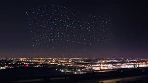 disney drone light show intel flew 300 drones in sync to create an epic light show at the