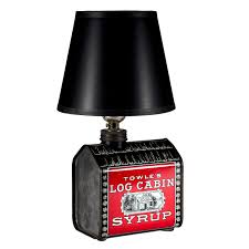 vintage towle log cabin syrup mini kitchen lamp