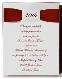 40th anniversary invitations 40th wedding anniversary invitations marialonghi