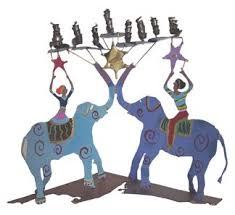 elephant menorah animal menorahs menorah