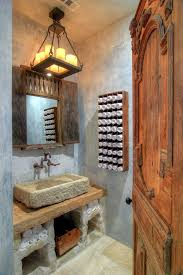 bathroom natural rustic bathroom with rectangle white surround