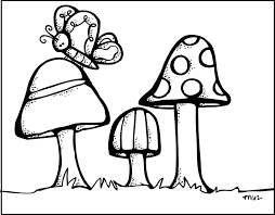 mushroom clipart cute country pencil and in color mushroom