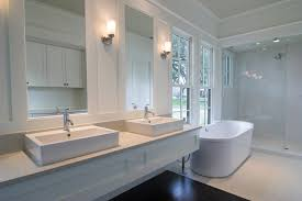 Modren Bathroom Double Sink Decor French Master Bath Design With - Bathrooms with double sinks