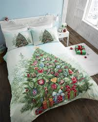 boys girls kids father christmas tree santa duvet quilt cover