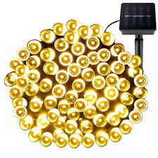 Solar Powered Outdoor Fairy Lights by Amazon Com Le 100 Led Solar String Lights 49ft 15m Waterproof