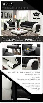 canapé et fauteuil en cuir ensemble canapé 3 places fauteuil cuir 206x88x80 cm