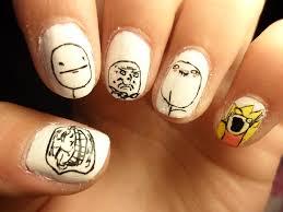 Nail Art Meme - meme nails by camilaccd on deviantart