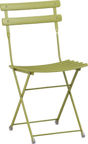 Blue Bistro Chairs Crate And Barrel Pronto Green Folding Bistro Chair 80 In Store