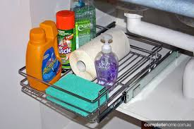 Under Kitchen Sink Storage Ideas Clever Under Sink Storage Ideas Completehome