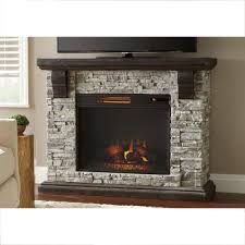 highland 50 in faux stone mantel electric fireplace in gray