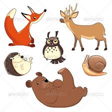wood animals by ddraw graphicriver