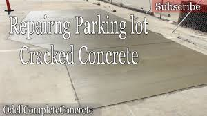 replacing cracked concrete parking lot slabs