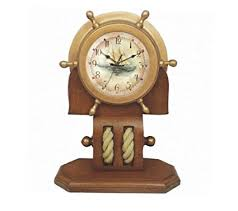 Nautical Desk Clock Ship Wheels Nautical Decorations