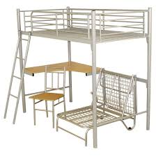 Bunk Beds  Twin Metal Loft Bed With Desk Metal Loft Bed With Desk - Metal bunk bed with desk