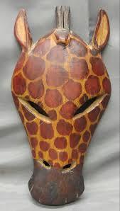 asian giraffe ring holder images Old vintage hand carved wooden giraffe mask kenya africa jpg