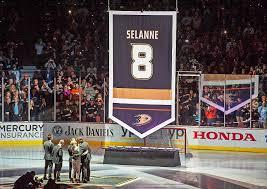 Mighty Ducks Flag Video Ducks Retire Teemu Selanne U0027s No 8 With Ceremony Full Of