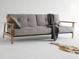 accoudoir canapé canapé convertible en tissu avec pieds et accoudoirs en bois