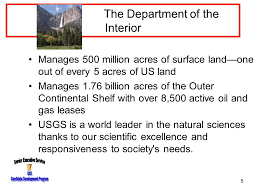 What Does The Interior Department Do Introduction To The Department Of The Interior Senior Executive