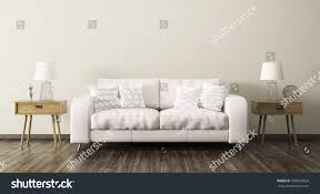 interior living room sofa two wooden stock illustration 390020026