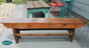 How To Build A Farmhouse Bench Free Plans For Making A Rustic Farmhouse Table Bench Lesson Img
