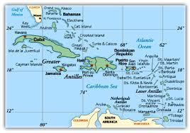 map usvi information on the caribbean islands and bahamas