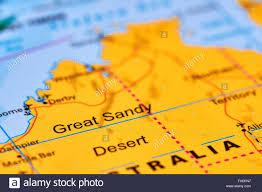 World Deserts Map by Great Sandy Desert In Australia On The World Map Stock Photo