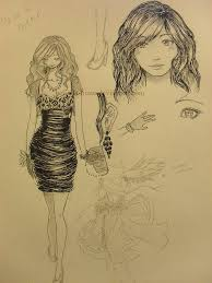 prom dress sketch by belinda hime on deviantart