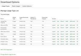 sizes options usage type formats asset bank help centre