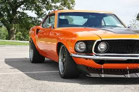1969 mustang orange a of one 1969 mach 1 mustang amcarguide com