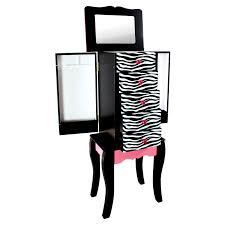 Teamson Vanity Kids Jewelry Armoire 768 Style Jewelry Box For S Zebra Kids