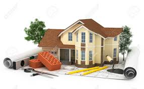 new construction home plans house plan construction plan with house wood and pencil 3d stock