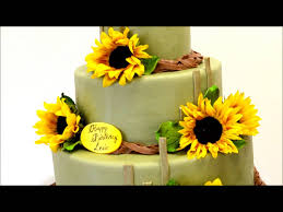 sunflowers theme wedding cake wedding cake ideas youtube