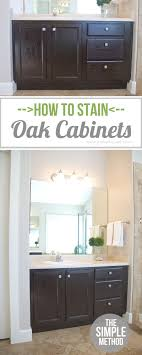 should i stain or paint my oak cabinets how to stain oak cabinets the simple method without sanding