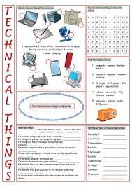 technical things vocabulary exercises worksheet free esl