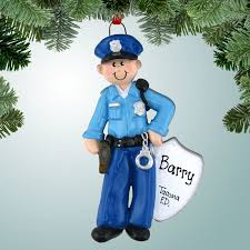 occupations ornaments policeman with badge